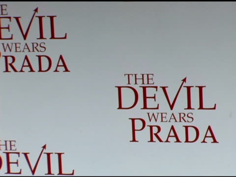 atmosphere at the 'the devil wears prada' new york premiere at amc loews lincoln square in new york new york on june 19 2006 - the devil wears prada film title stock videos and b-roll footage