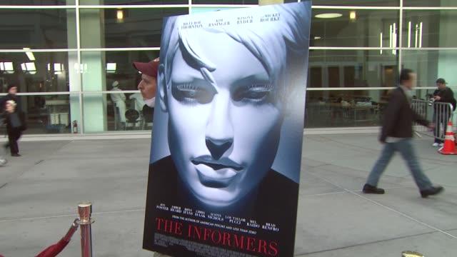 vídeos y material grabado en eventos de stock de atmosphere at the 'the informers' premiere at los angeles ca - the informers