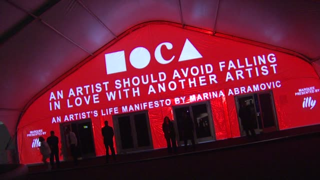 atmosphere at the the museum of contemporary art los angeles presents the annual moca gala at los angeles ca - los angeles museum of contemporary art stock videos and b-roll footage