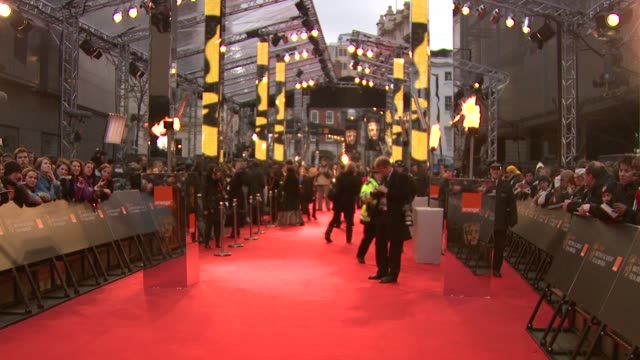 atmosphere at the the orange british academy film awards at london . - 2009 stock-videos und b-roll-filmmaterial