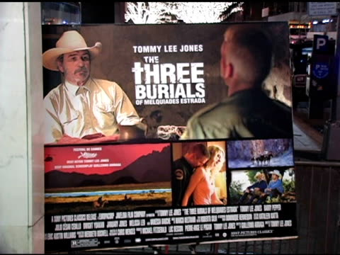 atmosphere at the 'three burials of melquiades estrada' new york premiere at the paris theater in new york new york on december 12 2005 - the three burials of melquiades estrada stock videos and b-roll footage
