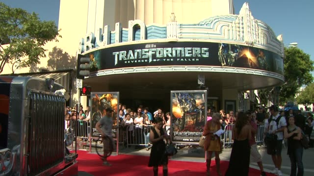 atmosphere at the 'transformers revenge of the fallen' premiere at los angeles ca - transformer stock videos & royalty-free footage