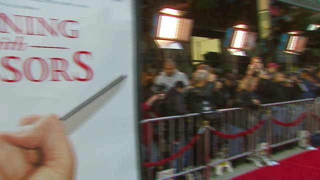 atmosphere at the tristar pictures presents 'running with scissors' los angeles premiere at academy of motion picture arts sciences in beverly hills... - tristar pictures stock videos and b-roll footage