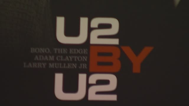 atmosphere at the u2 signs copies of their new book 'u2 by u2' at barnes noble union square in new york new york on september 26 2006 - barnes & noble stock videos and b-roll footage