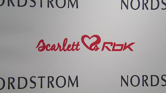 stockvideo's en b-roll-footage met atmosphere at the unveiling of reebok line scarlett 'hearts' rbk by scarlett johansson at nordstrom in los angeles california on march 8 2007 - nordstrom