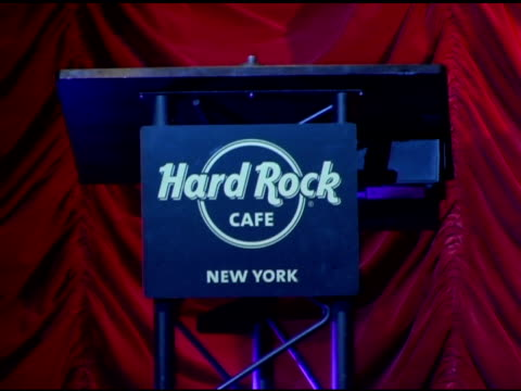 atmosphere at the unveiling of signature series t-shirt with ozzy and sharon osbourne at hard rock cafe in new york, new york on july 28, 2006. - hard rock cafe stock videos & royalty-free footage