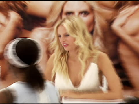 atmosphere at the victoria's secret launch of very sexy makeup exclusively at victoria's secret at the grove in los angeles california on july 31 2006 - the grove los angeles stock videos & royalty-free footage