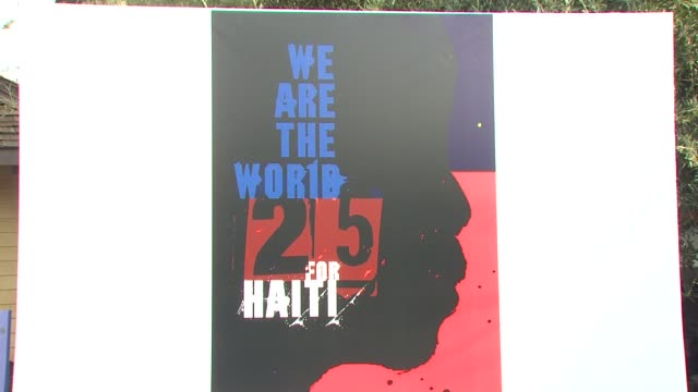 atmosphere at the we are the world 25th anniversary recording for haitian earthquake relief at los angeles ca - 25th anniversary stock videos and b-roll footage