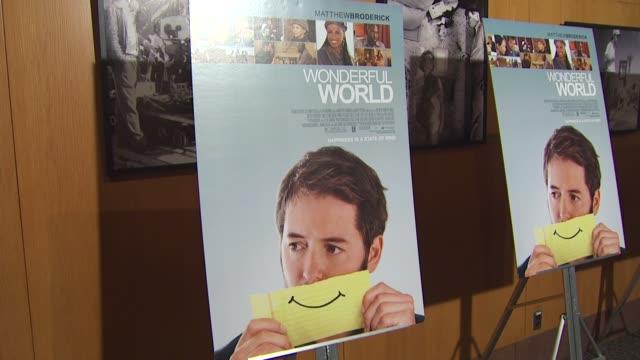 vídeos y material grabado en eventos de stock de atmosphere at the 'wonderful world' premiere at west hollywood ca - west hollywood