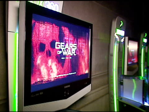 atmosphere at the xbox 360 'gears of war' launch at hollywood forever cemetery in los angeles california on october 25 2006 - xbox stock videos & royalty-free footage