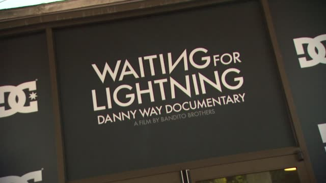 atmosphere at waiting for lightning screening and afterparty presented by dc shoes a documentary about skateboarder danny way on 4/10/12 in los... - dc shoes stock videos & royalty-free footage