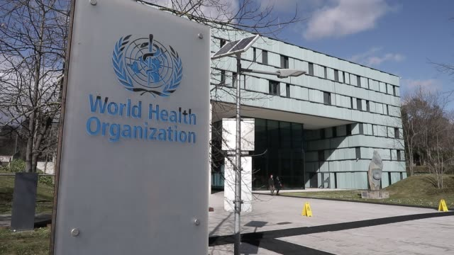 atmosphere at world health organization head office during covid19 coronavirus crisis on february 18 2020 in geneva switzerland - healthy lifestyle stock videos & royalty-free footage