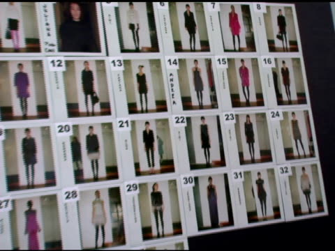 vidéos et rushes de atmosphere backstage at the mercedesbenz fashion week fall 2007 malandrino runway and backstage at the chelsea art museum in new york new york on... - semaine de la mode
