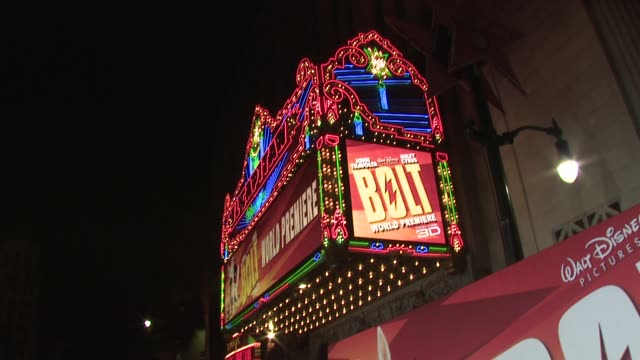 atmosphere 'bolt' world premiere @ the el capitan at the 'bolt' world premiere at los angeles ca - bolt stock videos & royalty-free footage