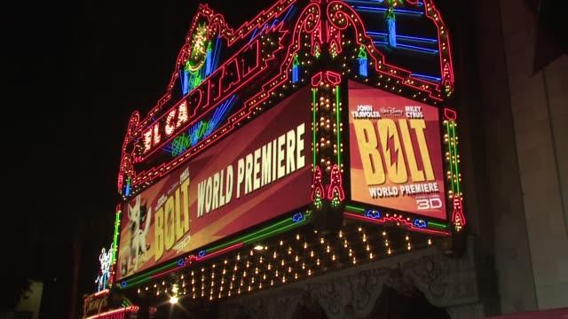 Atmosphere 'Bolt' World Premiere @ the El Capitan at the 'Bolt' World Premiere at Los Angeles CA