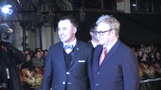 atmosphere elton john and david furnish at the australia uk premiere at london - film premiere stock videos & royalty-free footage