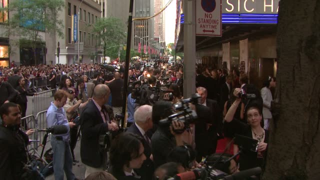 fans and press line at the 63rd annual tony awards red carpet at new york ny - annual tony awards stock videos & royalty-free footage