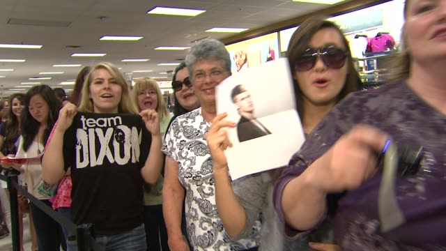fans at american idol season 11 contestants appear at los angeles kohl's for american idol's 'authentic icon collection in los angeles ca 05/16/12 - american idol stock videos and b-roll footage
