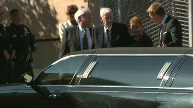 farrah fawcett's funeral at cathedral of our lady at the farrah fawcett funeral service at los angeles ca - farrah fawcett stock videos and b-roll footage