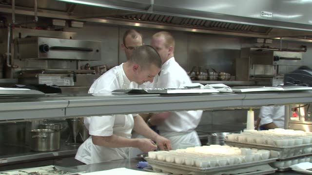 atmosphere gordon ramsay at the london restaurant opening kitchen at the gordon ramsay at the london west hollywood at los angeles ca - gordon ramsay stock videos and b-roll footage