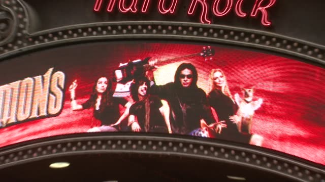 hard rock cafe at the world's first 'assvertising' campaign created by gene simmons and 25 female models at hard rock cafe in new york, new york on... - hard rock cafe stock videos & royalty-free footage