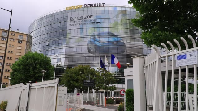 atmosphere in front of french car manufacturer renault headquarters on june 16 2020 in boulogne billancourt france french carmaker renault announce... - generic location stock videos & royalty-free footage
