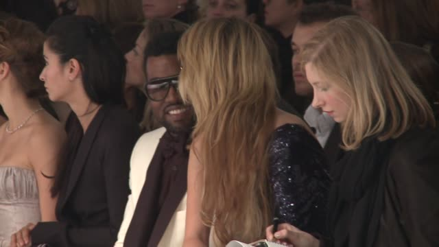 atmosphere kanye west & mischa barton at elie saab: paris haute couture s/s 09 at the elie saab: paris haute couture at paris . - mischa barton stock videos & royalty-free footage
