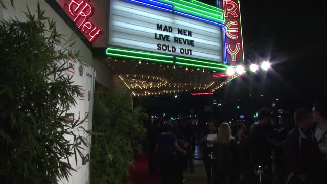 atmosphere lionsgate presents the live revue a night on the town with 'mad men' at the lionsgate presents the live revue a night on the town with... - revue stock videos and b-roll footage