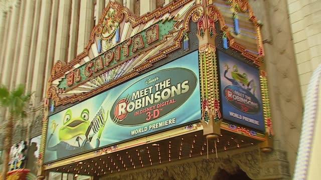 meet the robinsons at the 'meet the robinsons' premiere at the el capitan theatre in hollywood, california on march 25, 2007. - el capitan theatre stock videos & royalty-free footage