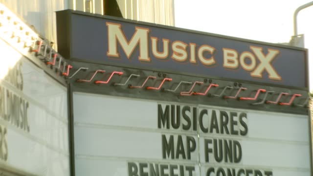 musicares music box theater at the 3rd annual musicares map fund benefit concert at music box theater in hollywood california on may 11 2007 - benefit concert stock videos and b-roll footage