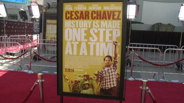 """atmosphere of """"cesar chavez"""" los angeles premiere at tcl chinese theatre on march 20, 2014 in hollywood, california. - tcl chinese theatre stock videos & royalty-free footage"""