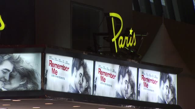 paris theater at the 'remember me' new york premiere at new york ny - paris theater manhattan stock videos and b-roll footage