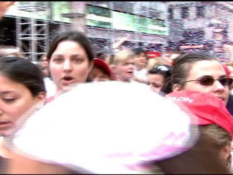 revlon run/walk participants at the 10th annual new york revlon run/walk for women at times square in new york, new york on may 5, 2007. - revlon stock videos & royalty-free footage