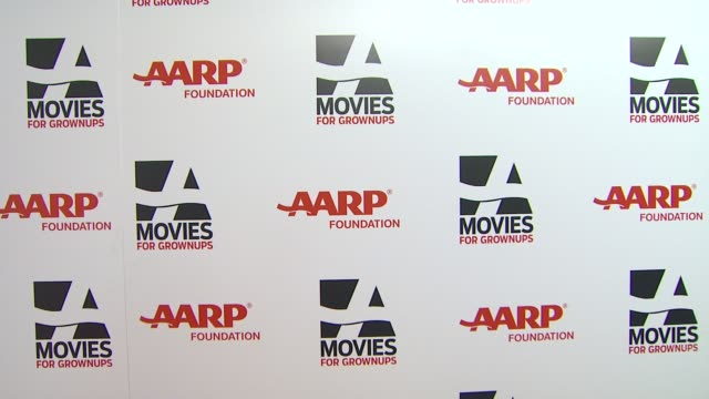 atmosphere - signage at 13th annual aarp's movies for grownups awards gala at regent beverly wilshire hotel on in beverly hills, california. - regent beverly wilshire hotel stock videos & royalty-free footage
