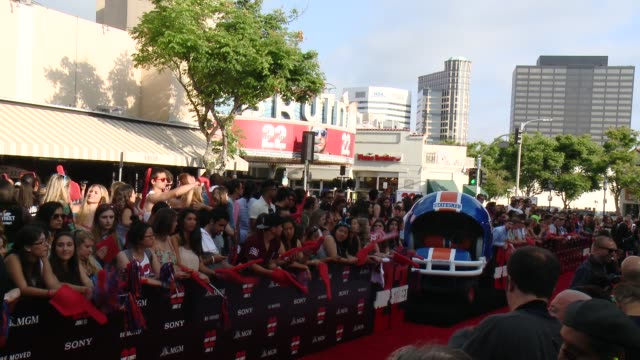 atmosphere signage at 22 jump street los angeles premiere at regency village theatre on june 10 2014 in westwood california - regency style stock videos and b-roll footage