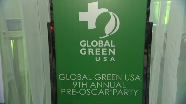vídeos y material grabado en eventos de stock de signage at global green usa's 9th annual preoscar party on 2/21/12 in hollywood ca - oscar party