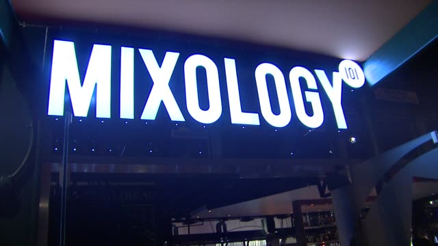 signage at joey fatone and kym johnson host after party for premiere of dancing with the stars at mixology 101 on 9/24/12 in los angeles ca - joey fatone stock videos & royalty-free footage