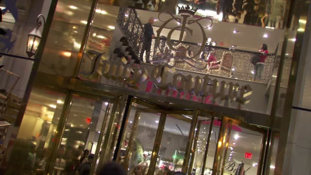 signage at the juicy couture celebrates fashion's night out at new york ny - juicy stock videos & royalty-free footage