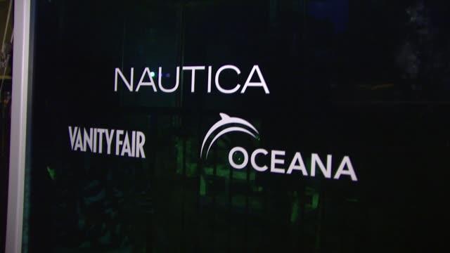 signage at the oceana nautica vanity fair celebrate world oceans day at new york ny - oceana stock videos & royalty-free footage