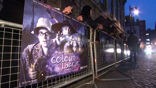 Signage at the The Colour of Magic Premiere at Curzon Mayfair in London on March 3 2008