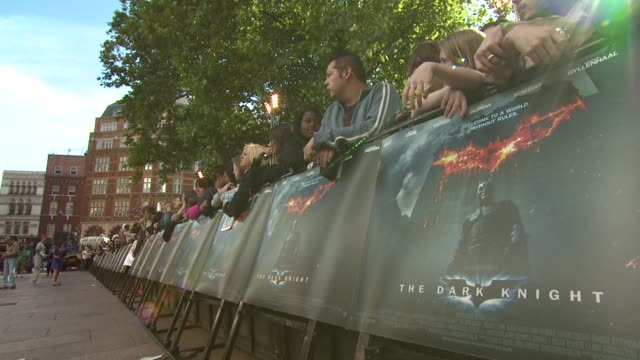Signage at the The Dark Knight European Premiere at London