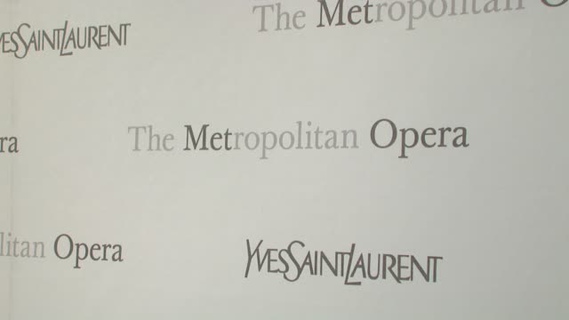 Signage at the The Metropolitan Opera's 125th Anniversary Gala at New York NY