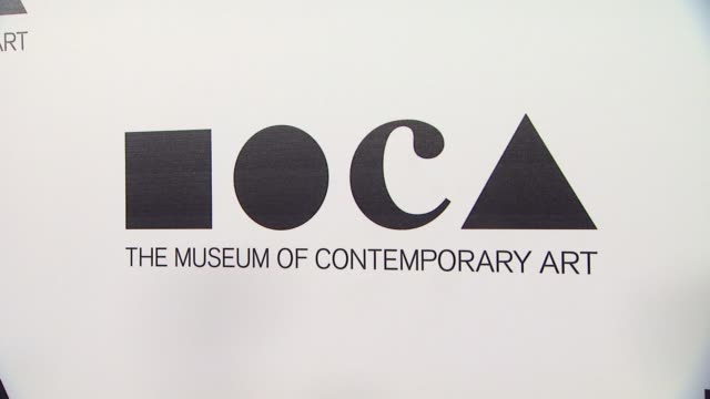 signage at the the museum of contemporary art los angeles presents the annual moca gala at los angeles ca - los angeles museum of contemporary art stock videos and b-roll footage