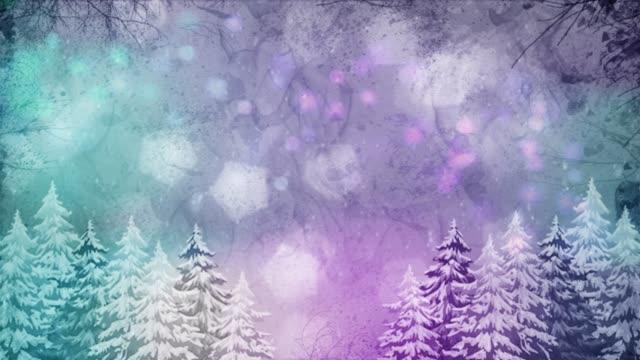 大気冬の風景 - 冬の気分で風景のミニシリーズ。 - パステルカラー点の映像素材/bロール