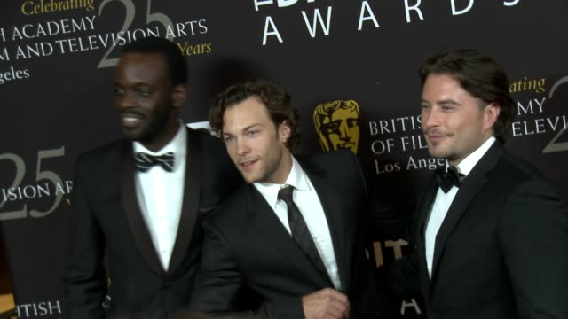 stockvideo's en b-roll-footage met ato essandoh kyle schmid kevin ryan at 2012 bafta los angeles britannia awards presented by bbc america on 11/7/12 in los angeles ca - videoato