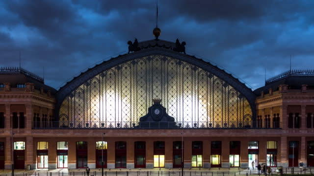 Atocha Station Exterior, Madrid - Time Lapse