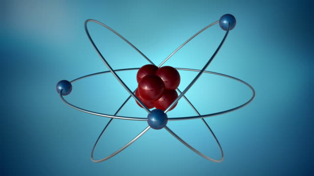 3d atom symbol - atom stock videos & royalty-free footage