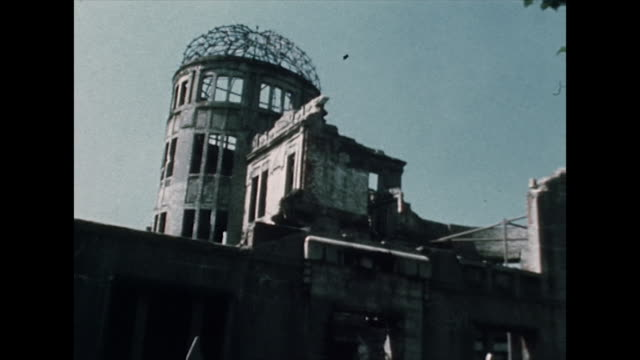 atomic bomb dome memorial in hiroshima; 1975 - weapons of mass destruction stock videos & royalty-free footage