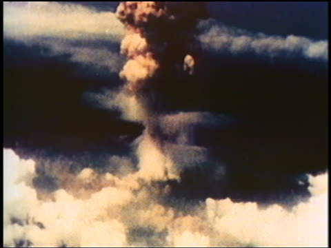 aerial atomic bomb exploding on nagasaki / documentary - atomic bomb stock videos & royalty-free footage