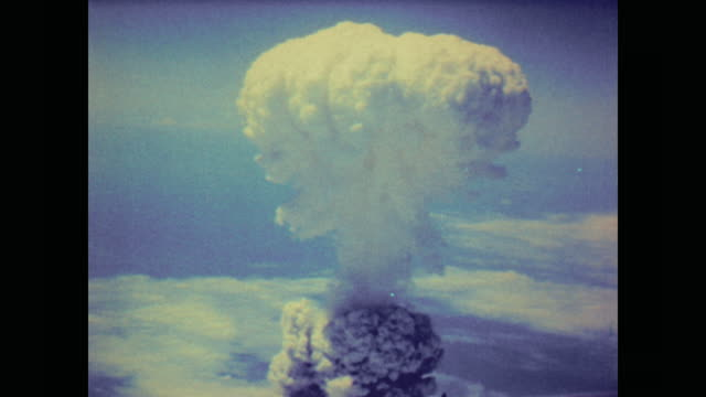 atomic bomb over nagasaki, japan - atomic bomb stock videos & royalty-free footage